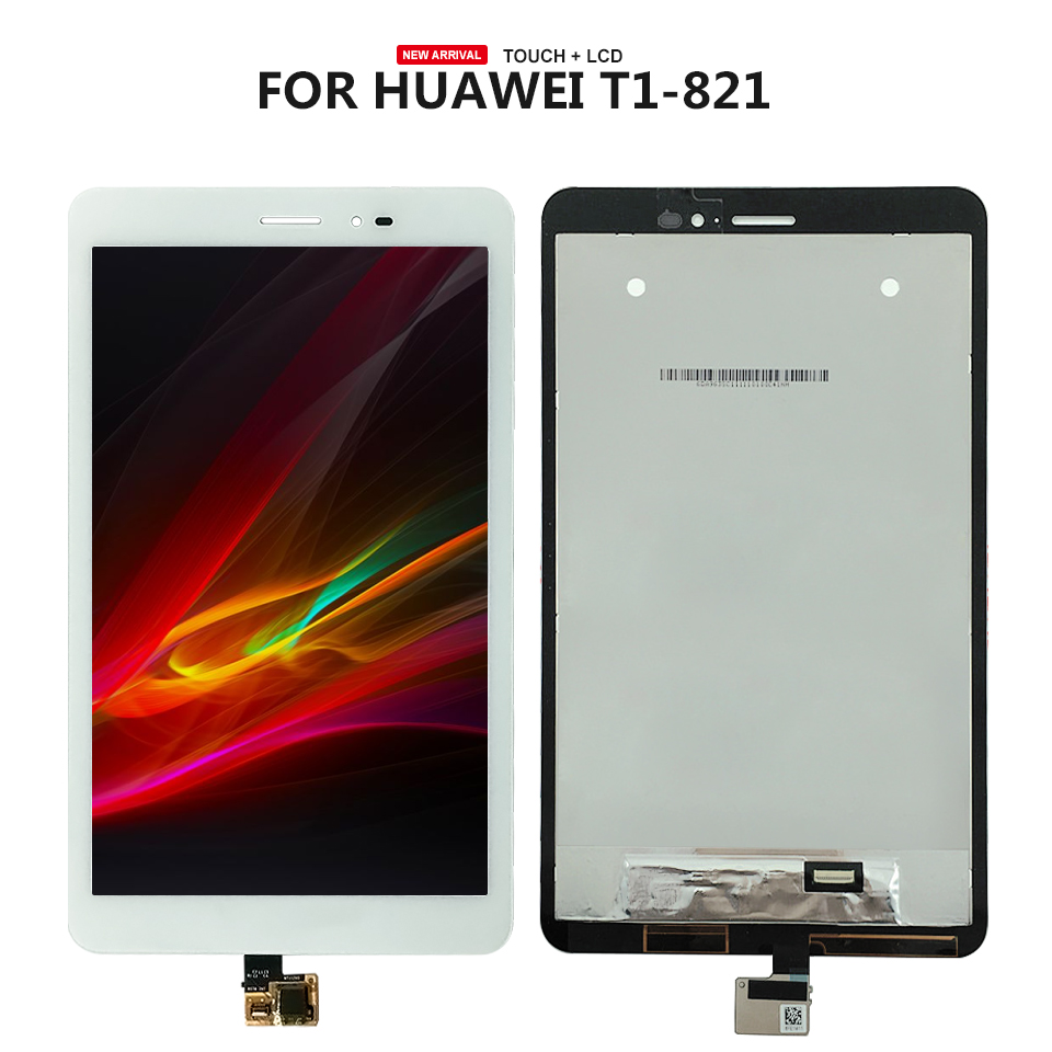 8 Good quality for huawei T1-821L T1-821W T1-823L N080ICP-G01 LCD Display With Touch Screen Panel Digitizer free tools точильный станок ставр сзэ 175 350м