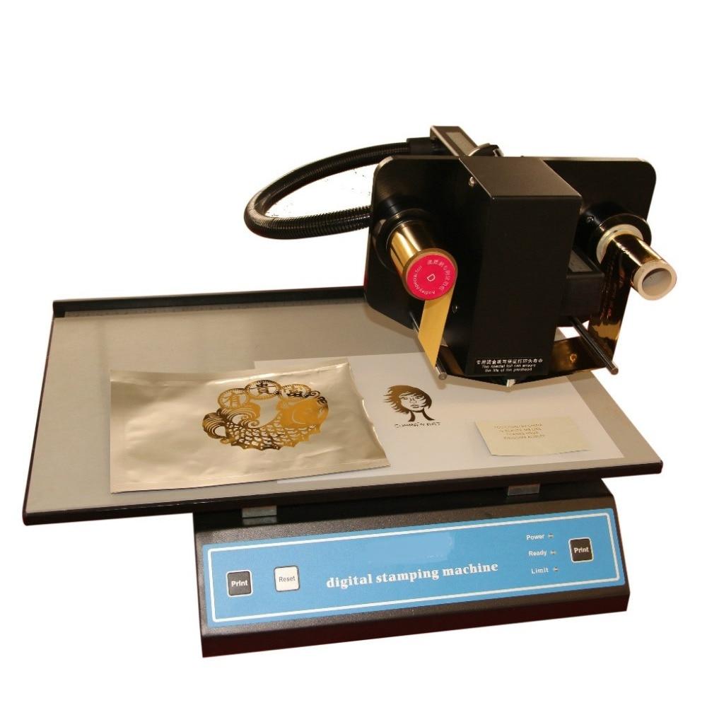 1 PC ADL-3050A Automatic hot foil stamping machine, 300 dpi Pvc label making machine, Digital Printer