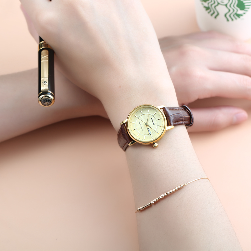 Ladies Fashion Quartz Watch Women Top Famous Brand Luxury Leather Casual Dress Women's Watch Rose Gold reloje mujer montre femme tezer ladies fashion quartz watch women leather casual dress watches rose gold crystal relojes mujer montre femme ab2004