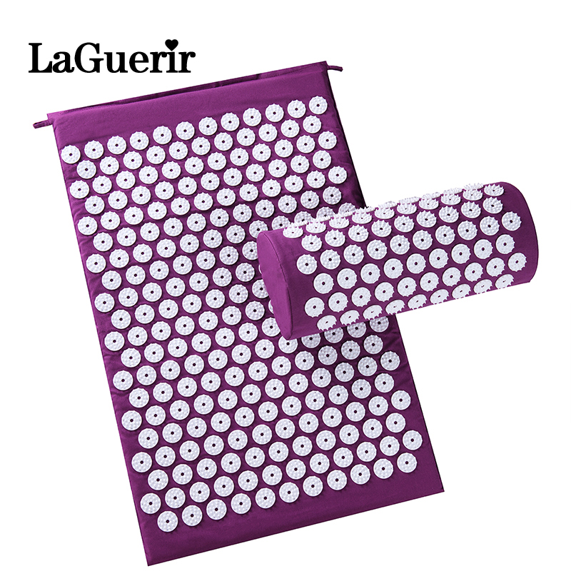 Massager (appro.67*42cm)Massage cushion Acupressure Mat Relieve Stress Pain Acupuncture Spike Yoga Mat with Pillow Drop shipping vasos sanitários coloridos