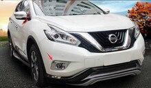 Снаружи! 2 предмета для Nissan Murano 2015 2016 2017 2018 ABS передних противотуманных фар Крышка лампы отделкой