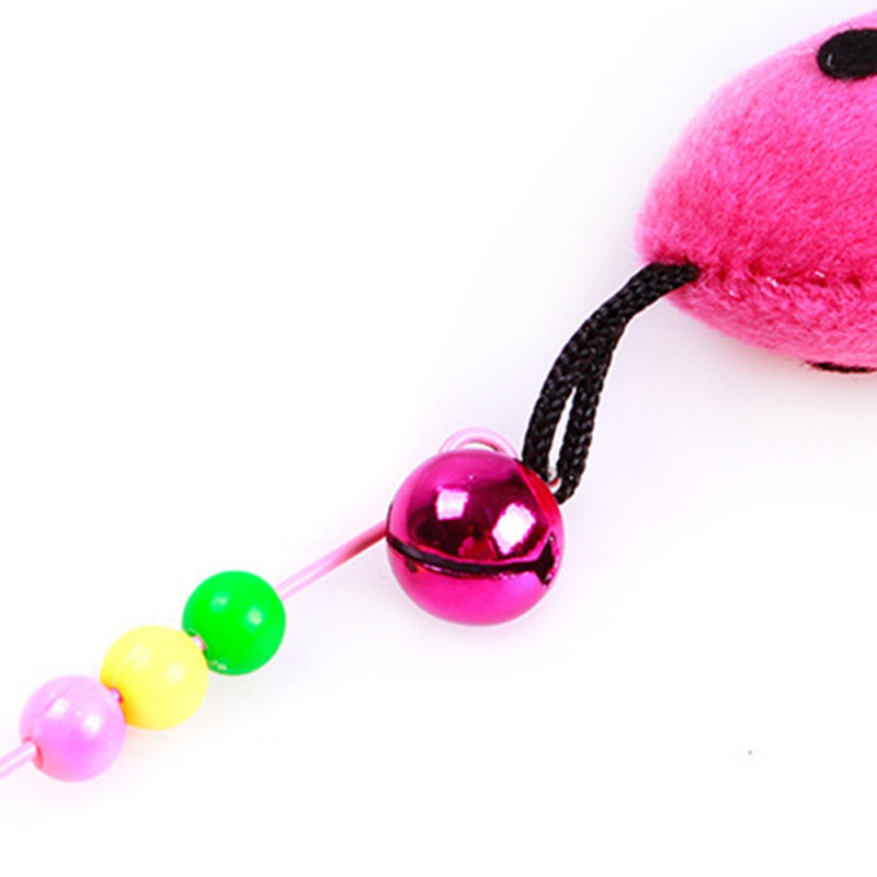 Funny Cat Toys Funny Cat Kitten Pet Teaser Feather Wire Chaser Pet Toy Wand Beads Play New Design Cat Toys For Pet