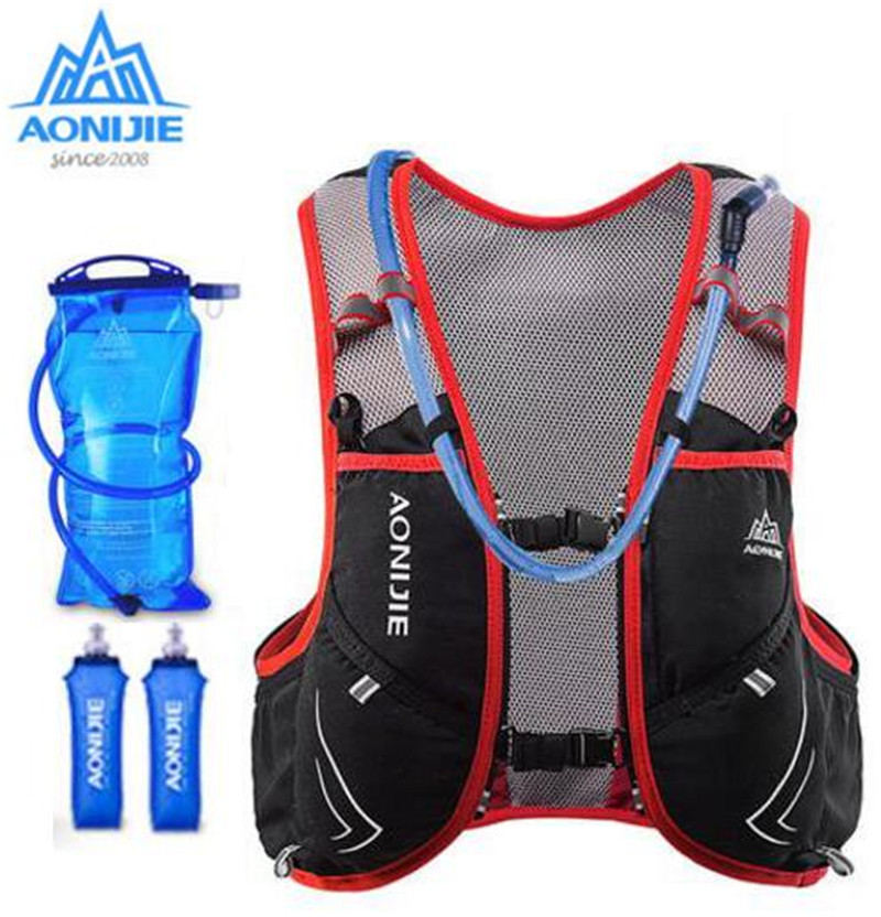 AONIJIE Upgraded Outdoor Running Lightweight 5L Hydration Vest Backpack For Men Women Running Hiking Marathon aonijie men women outdoor sports lightweight running 8l backpack marathon cycling hiking bag with 1 5l hydration water bag