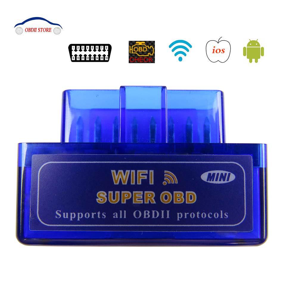 Elm327 Wifi Obd2 Voiture Diagnostic Scanner Elm 327 Wi-fi Sans Fil Elm-327 Obdii Scanner Pour iphone Adaptateur Auto De Diagnostic -outil