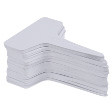 Board-Plug Sign Garden-Labels Writing-Plate In-Card Classification Plastic White 100pcs