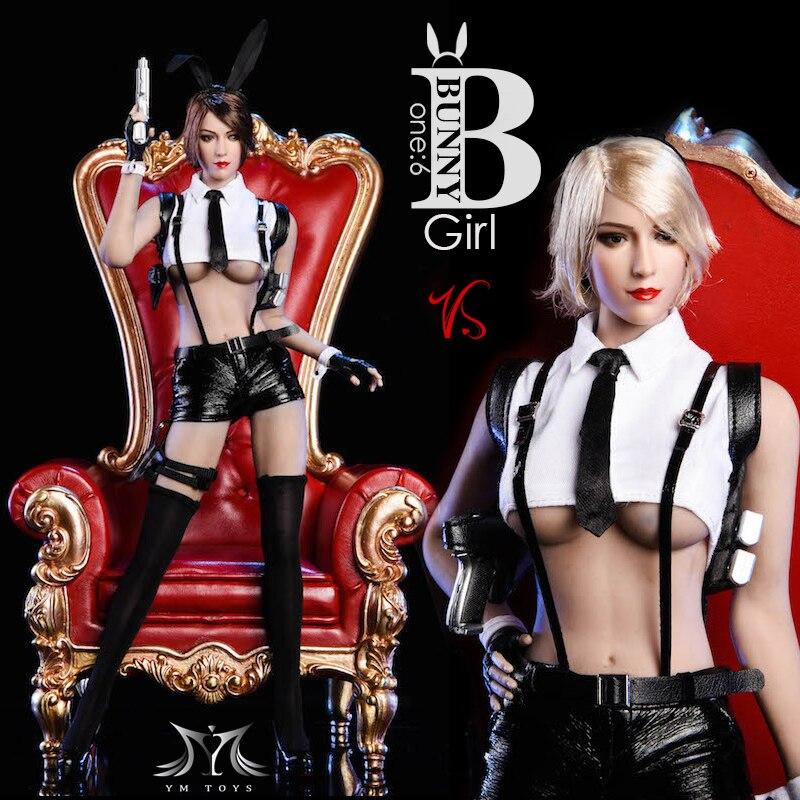 "Custom 1:6 Figure Clothing Black Rabbit Girl Suit  For 12/"" PH UD Female Body"