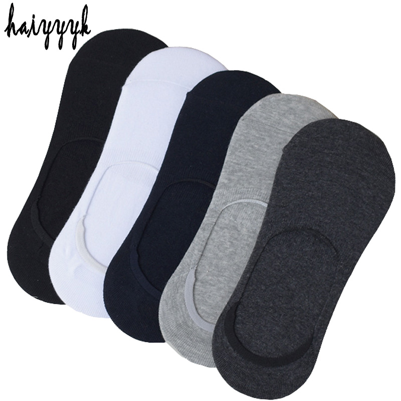 10Pcs=5Pair Solid Woman   Socks   Invisible Ankle   Socks   Women Summer Breathable Thin   Socks   Non-slip   Socks   Slippers Size EUR 36-42