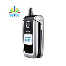 الأصلي نوكيا 6101 هاتف محمول مقفلة ل GSM 900/1800/1900MHZ الهاتف المستخدمة ظروف ممتازة