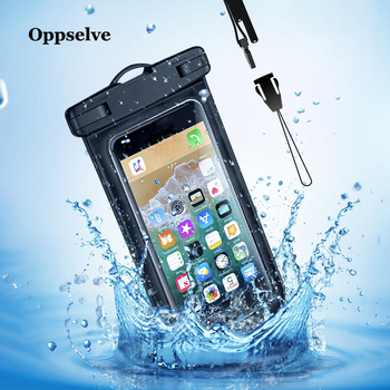Oppselve Waterproof Mobile Phone Case For iPhone X Xs Max Xr 8 Samsung S9 Clear PVC Sealed Underwater Cell Smart Phone Dry Pouch