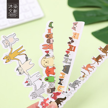 30 pcs /Pack Cartoon Pets Bookmark DIY Craft Tag Cards School Office Supply Student Stationery H26