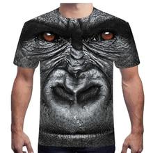 Gorilla 3D Stereo Short Sleeve 3D printed tshirt Animal Funny men's T-shirt Buy more than one discount large size 6XL sweatshirt цена и фото