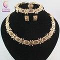 Высокое качество Моды В Дубае Позолоченный Тотем кристалл ожерелье Ювелирные наборы Женщины Dance party костюм Ювелирные Наборы