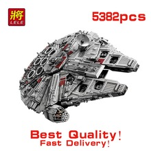 LELE 5382pcs Star Wars Ultimate Collector Millennium Falcon Model Building Blocks Bricks starwars Toy Similar lepin 05033 10179