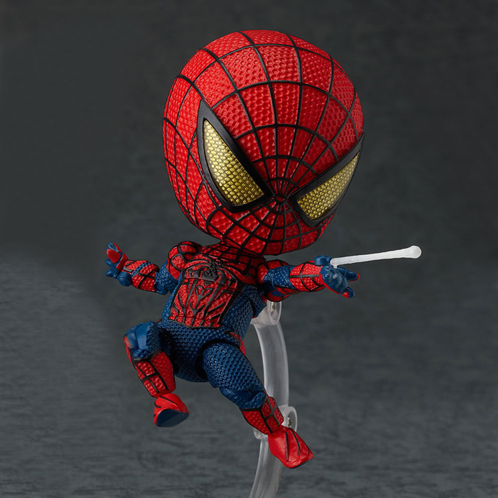 Cute Nendoroid 4 Spider Man Spiderman PVC Action Figure Collection Model Toy Gift Kid Boy original box sonic the hedgehog vivid nendoroid series pvc action figure collection pvc model children kids toys free shipping