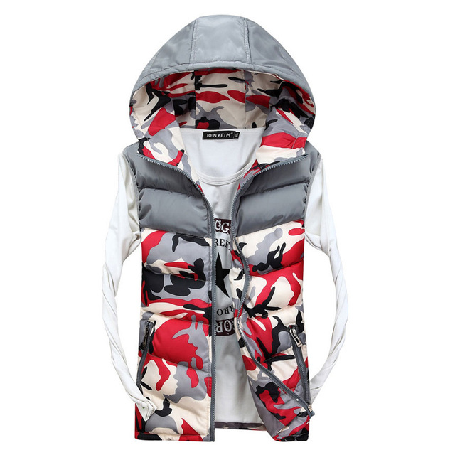2017 new winter men's vest couple  leisure camouflage vest tide Women Slim vests free shipping 55cy