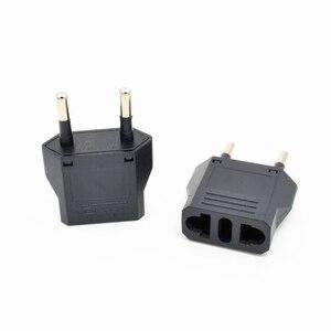 Image 2 - Bộ 5 EU Đa Năng Mỹ Nữ Cắm AC Du Lịch Điện Kết Nối Adapter Cắm Ổ Cắm 10A 250V