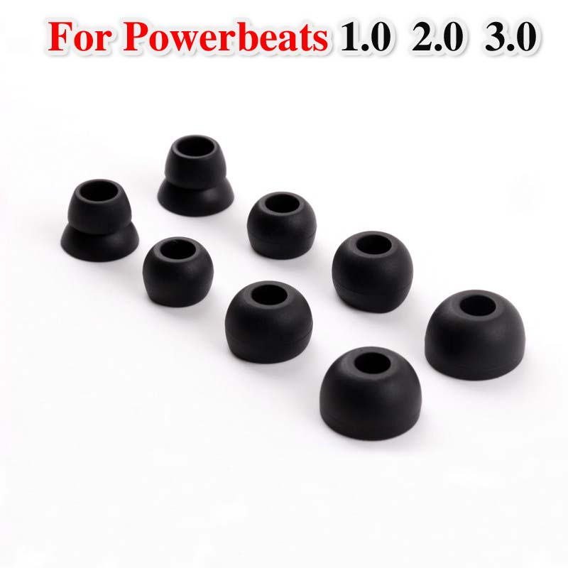 Portable Audio & Video Ear Pads Cushions For Powerbeats 1.0 2.0 3.0 Covers Pb2 Pb3 Silicone In-ear Ear Caps Earphones Case Earbuds Eartips 8pcs/lot Earphone Accessories