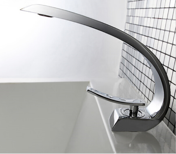 New arrival brass material single lever bathroom cold and hot sink faucet basin faucet sink tap mixer with unique design new arrival chrome and black finished bathroom single lever hot and cold sink faucet basin tap mixer
