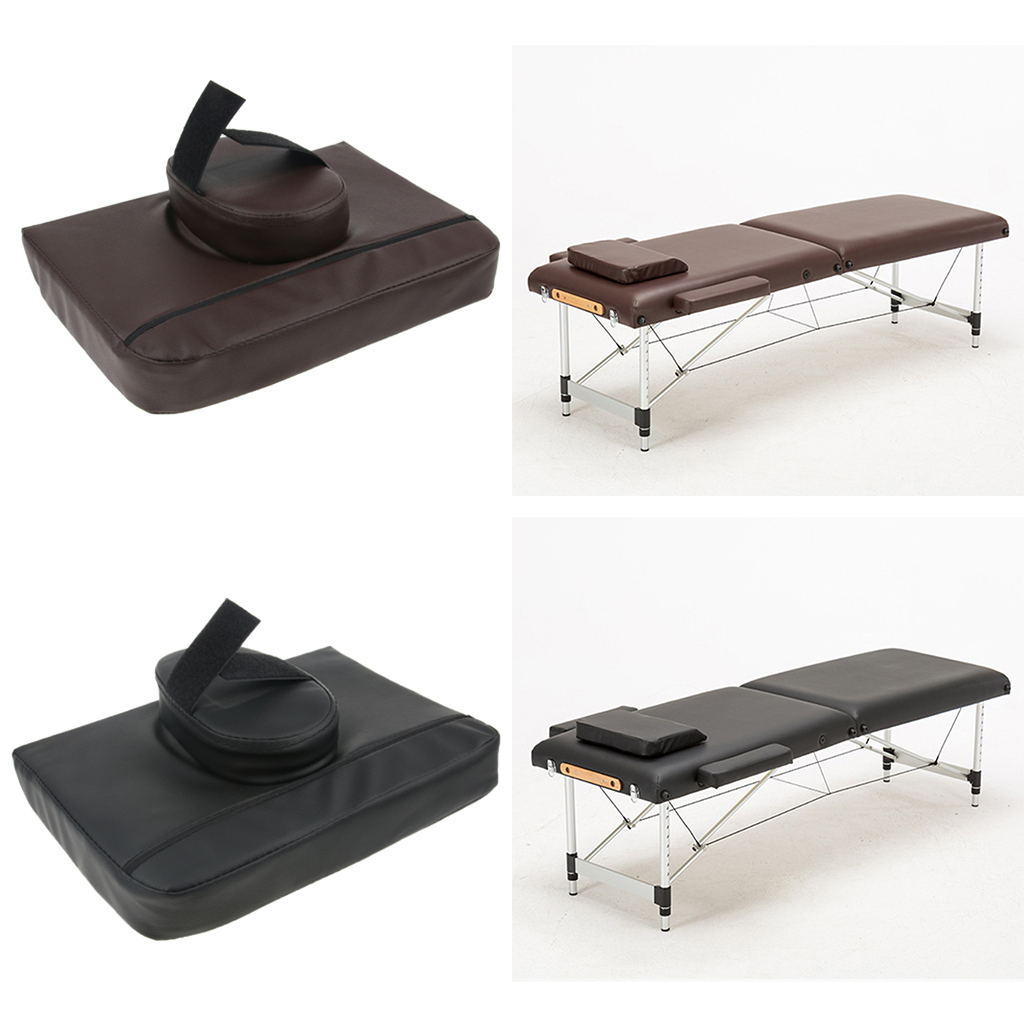 2pcs Comfortable Square SPA Massage Table Face Down Cradle Cushion Neck Support Pillow Pads