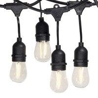 Oferta 10M al aire libre LED cadena luces impermeable E26 E27 S14 2W LED Retro Edison filamento