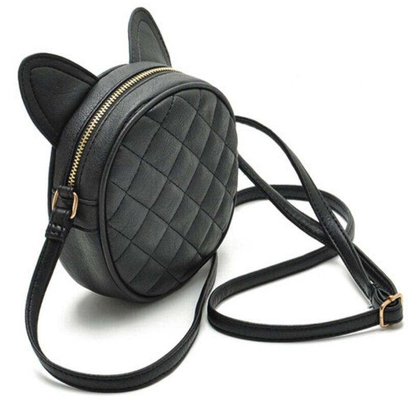 c0756f79ec9c Hot Wmen Bag Fashion Women Messenger Bags Cat Ear Shoulder Bag High Quality  PU Leather Crossbody