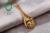 Jóias 14 K Amarelo Ouro & 1.78ct Caimao Configuração de Noivado De Diamante 11-12mm de água doce da Pérola Frete Grátis