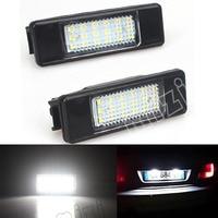 2pcs 18SMD Number License Plate Light Car LED Lamp Car Styling For Peugeot 106 207 307