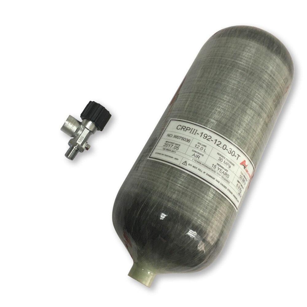 AC31210 12L Hpa Pcp Gas Cylinder Scuba Pcp Mini Oxygen Air Tank Paintball Bottle Valve Pcp Rifle/Pcp Airforce Condor/Pcp Gun