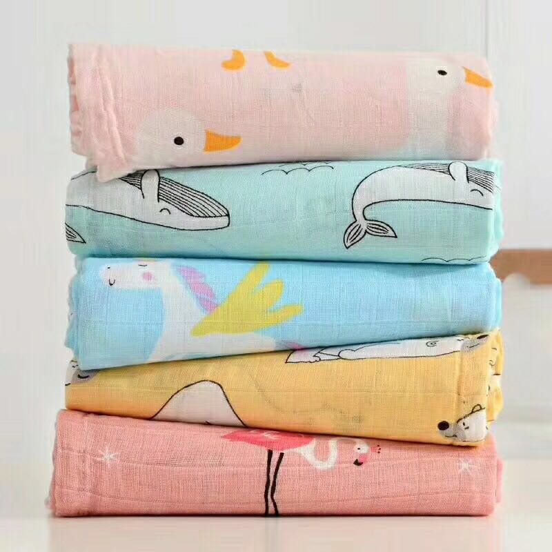 promotion Bamboo+ Cotton Baby muslin blankets Swaddles Newborn Blankets ins Gauze infant wrap sleepsack swaddleme bath towel 6 layers muslin cotton baby blankets swaddles newborn wrap gauze crown children blankets infant bath towel size 150 200cm