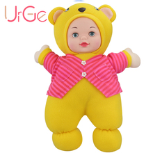 wholesale URGE kawaii Cartoon Anime teddy bear toys soft plush stuffed Appease doll silicone reborn baby dolls Christmas toy