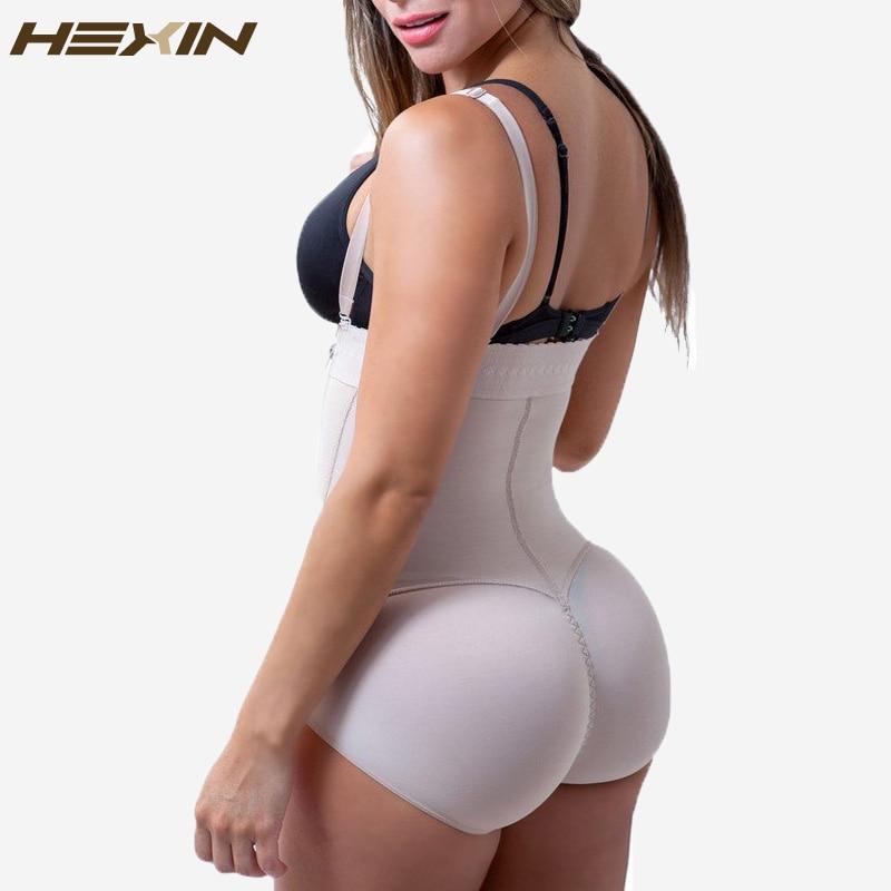 HEXIN Latex Women s Body Shaper Post Liposuction Girdle Clip and Zip Bodysuit Vest Waist Shaper