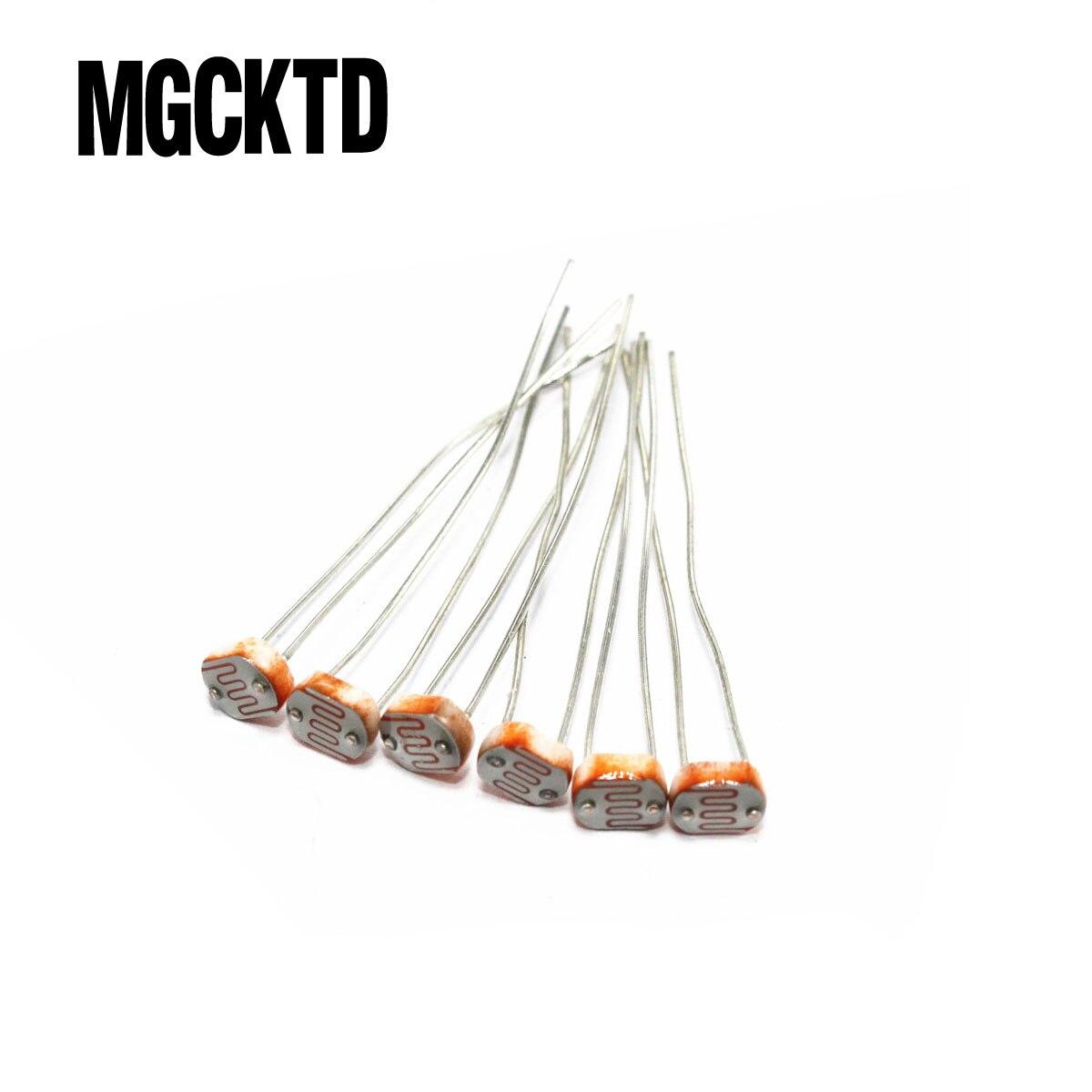 20pcs gl5516 5516 light dependent resistor ldr 5mm photoresistor