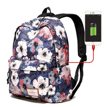 2020 Hot Sale Printing Backpack Women School Bags for Girls Large Capacity USB Charge Laptop Backpack Travel Mochilas high quality hot sale canvas backpack women school bags for girls large capacity usb charge men laptop backpacks