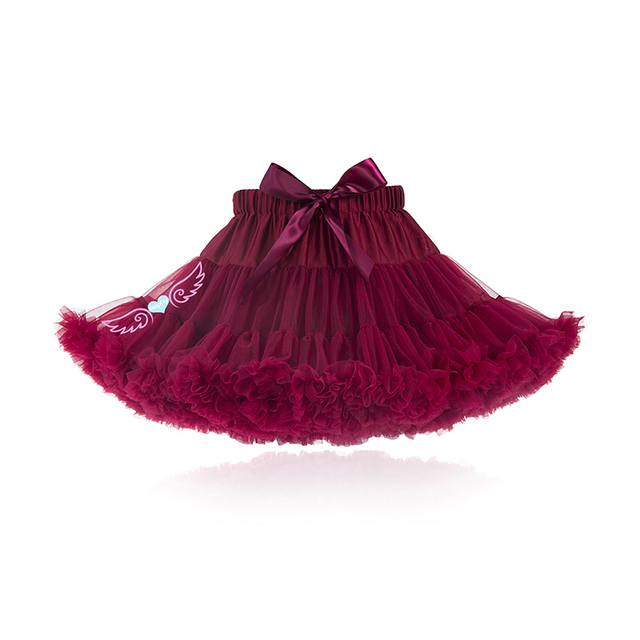 664d342cd8 Pettiskirt with Ruffle baby Tutu skirt one piece retail wine color of girl  skirt Baby Girl