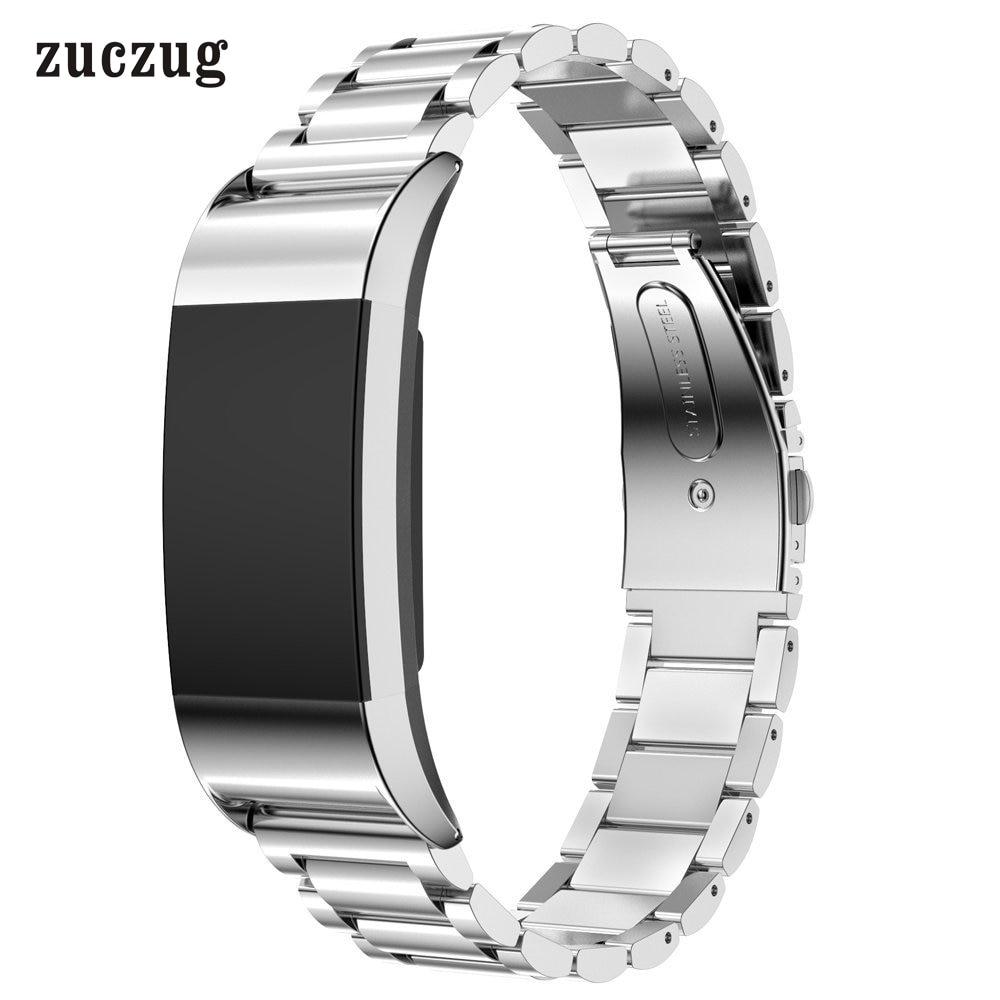 Zuczug toppkvalitet 316L metallband i rostfritt stål för Fitbit - Smart electronics