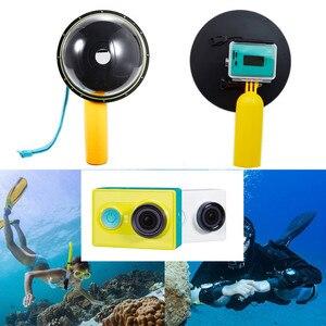 Image 1 - アクセサリー防水15メートルのダイビング透明レンズドームポート付き防水ケース用xiaomi yi xiaoyiカメラ水中