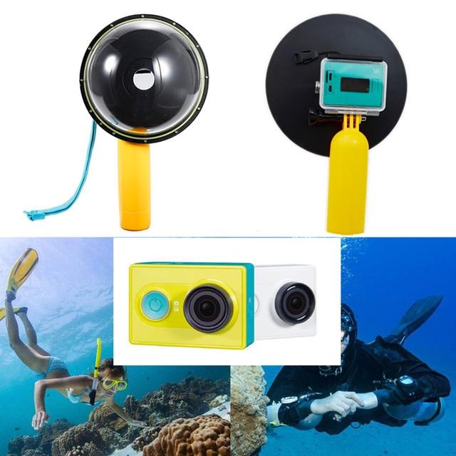 アクセサリー防水15メートルのダイビング透明レンズドームポート付き防水ケース用xiaomi yi xiaoyiカメラ水中