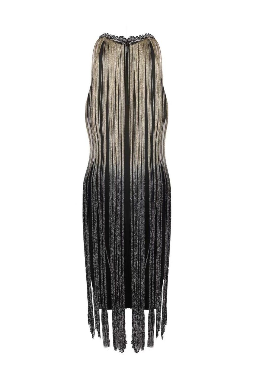 Partie D'été Nouvelles Soirée Bandage Robe Manches Mini 2018 De Noir Sans Femmes Gland Moulante Robes Sexy OUnqnWg