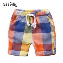 BEEBILLY Boys Shorts 2017 Fashion Plaid Baby Boys Shorts Summer Children Chothing Kids Pants Trousers Boys Pants Shorts