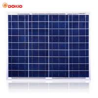 Dokio marca 50W Solar de silicio policristalino Panel China 18V 530x660x25MM tamaño del Panel Solar Paneles solares China # DSP-50P