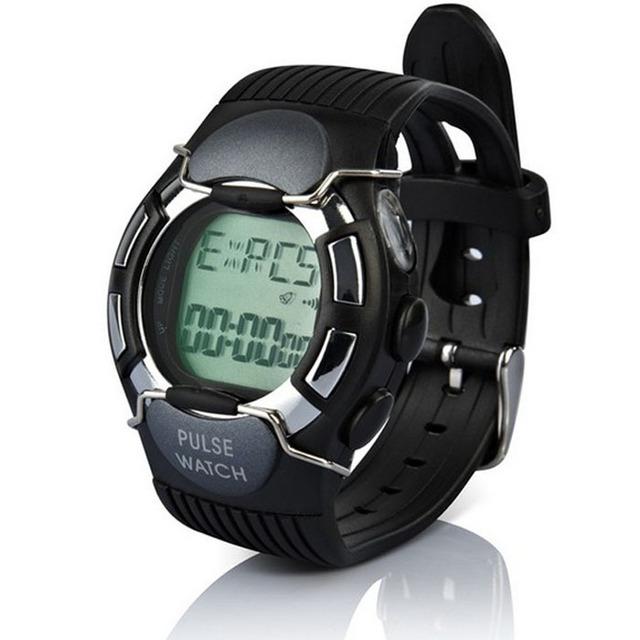 Novo Monitor de Freqüência Cardíaca À Prova D' Água Relógio dos homens Relógio Do Esporte Relógio de Pulso da Caloria Com Colock Preto Frete grátis Feida