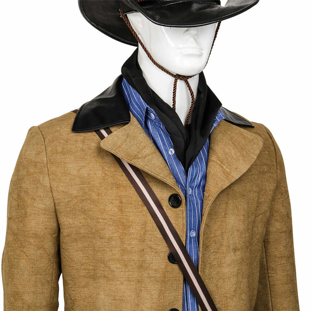43f153fff1c ... Game Red Dead  Redemption 2 Arthur Morgan Cosplay Costume Outfit Full  Suit Halloween Carnival Cosplay ...