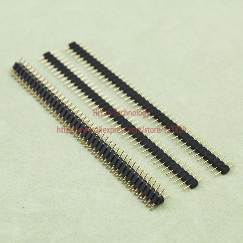 (20pcs/lot) 1*40Pin Single Row Male Silver Round Pin Header Strip Connector Pitch:2.54MM(0.1inch)