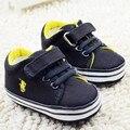 Envío gratis 6 par/lote bebé de los deportes zapatos primeros caminante zapatillas sapatos bebé Infantil Prewalker de fondos blandos 0868