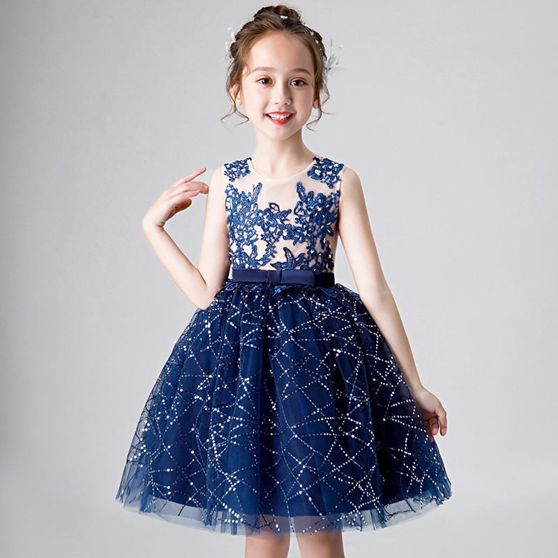 2019 Kids Girls Lace Elegant Bow Dress Children Wedding Birthday Party Prom Gowns Teen Girl Beads Princess Frocks Dresses Q9442019 Kids Girls Lace Elegant Bow Dress Children Wedding Birthday Party Prom Gowns Teen Girl Beads Princess Frocks Dresses Q944