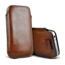 Para Oneplus 6T 6 3 t caso cuero Coque funda de bolsillo Universal Pull Tab bolsa para cubrir uno más 5 3 6 Oneplus 5t 3T