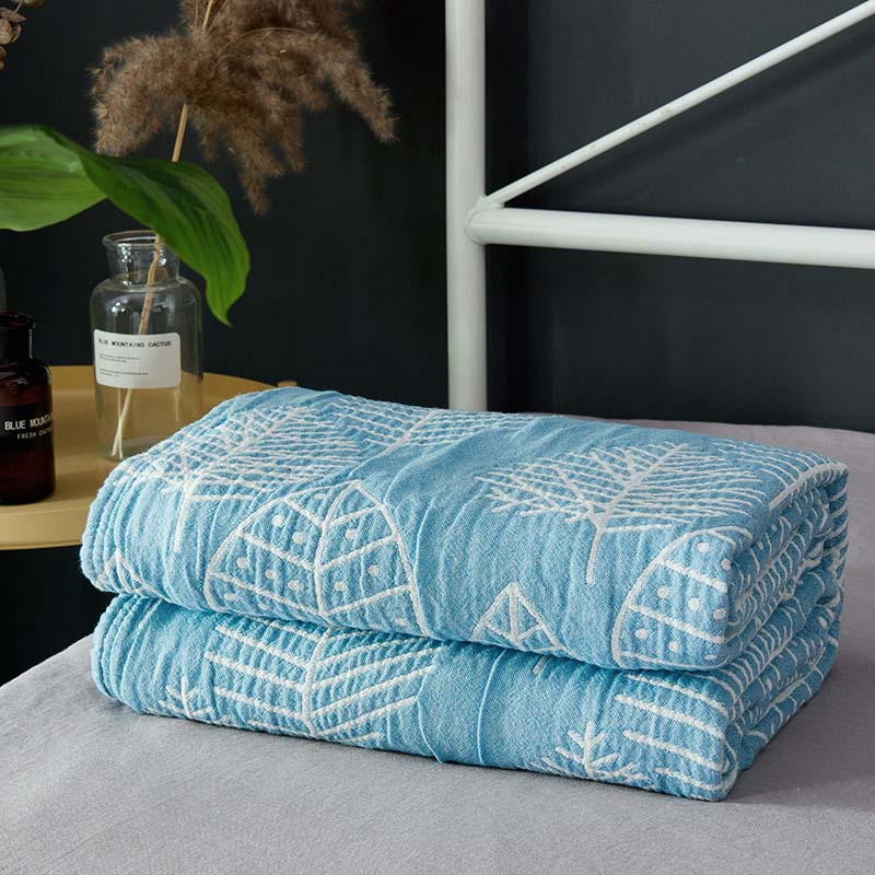 Cotton Gauze Baby Towel Blanket Summer Autumn Bed Plaid Sofa Throw Blankets Soft and Comfortable