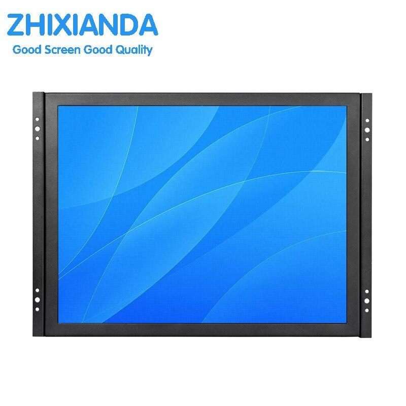 Vendita diretta della fabbrica OEM/ODM 15 pollice open frame monitor lcd industriale con AV/BNC/VGA/ HDMI/interfaccia USB