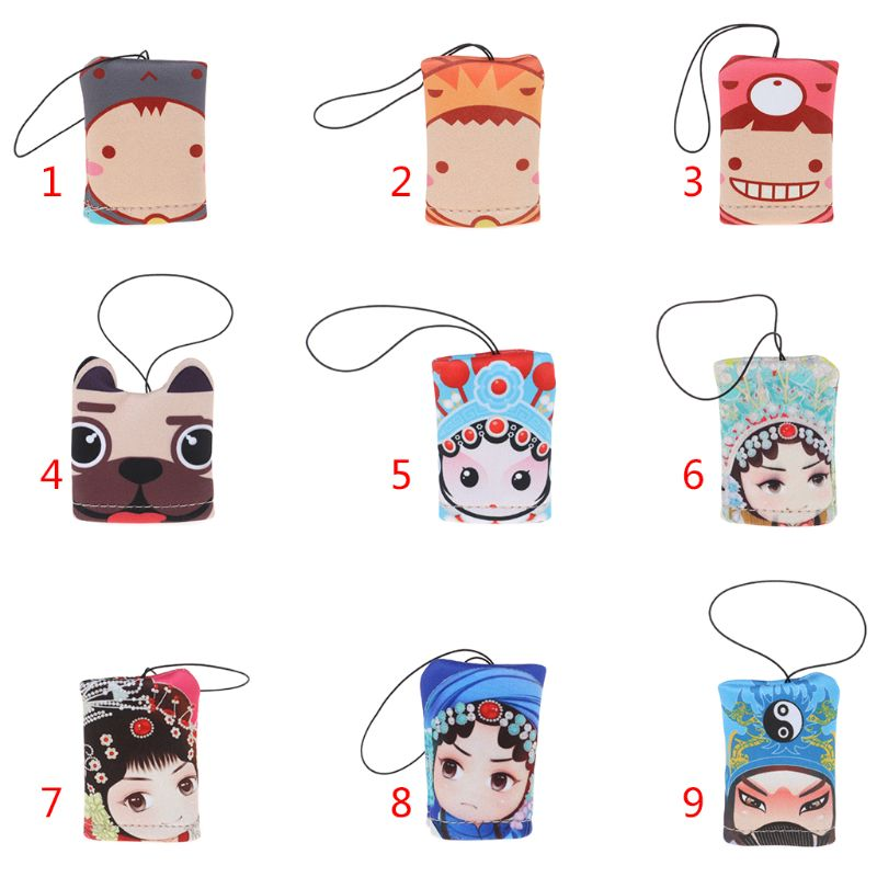 Glasses Cleaner Suede Cloth Phone Screen Lens Cleaning Tool Soft Portable Hanging Cartoon Art Creative Funny Cute Accessories