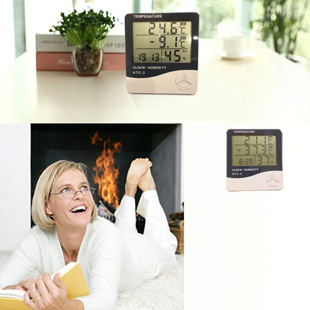 Vastar cyfrowy termometr LCD higrometr elektroniczny miernik temperatury i wilgotności stacja pogodowa kryty odkryty Tester HTC-2